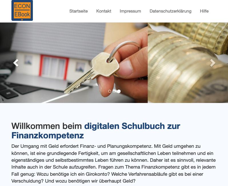 Bild Digitales Schulbuch zur Finanzkompetenz