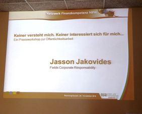 Praxisworkshop Öffentlichkeitsarbeit. Foto. P.Kuballa (NUA)