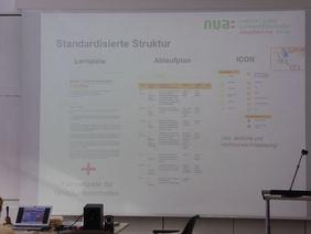 Vorstellung der standardisierten, handlungsorientierten Inhalte und den strukturellen Aufbau der verschiedenen Module des Praxishandbuches. Foto: NUA NRW
